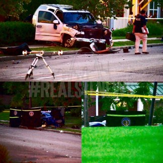 WOMAN KILLED AFTER AN ALLEGED STOLEN SUV CRASHES INTO HER