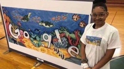 "MISSOURI MIDDLE SCHOOLER NEEDS YOUR VOTE TO WIN THE ""DOODLE FOR GOOGLE"" COMPETITION"