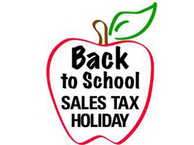 BACK TO SCHOOL SALES TAX FREE HOLIDAY BEGINS AUG. 2