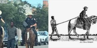 TEXAS POLICE DEPARTMENT UNDER FIRE AFTER OFFICERS WALK BLACK MAN DOWN A STREET ON A LEASH