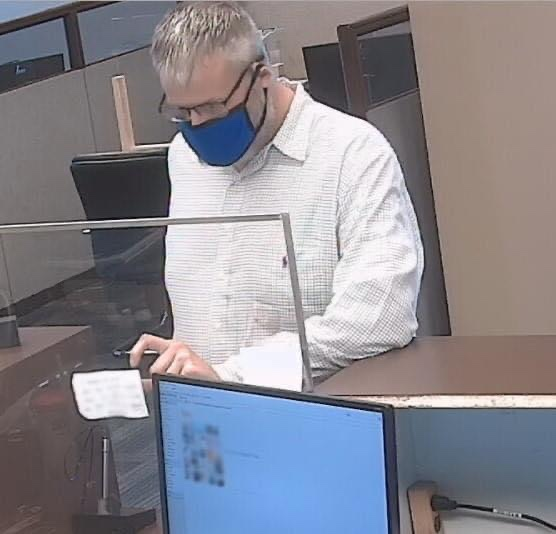 MAN WANTED BY POLICE IN CONNECTION TO A BANK ROBBERY